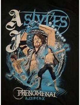 Aj Styles T Shirt Size Large Wwe Njpw Roh Pro Wrestling Crate Bullet Club Tna by Ebay Seller