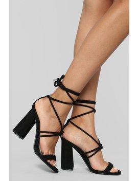Tell Him Heeled Sandals   Black by Fashion Nova