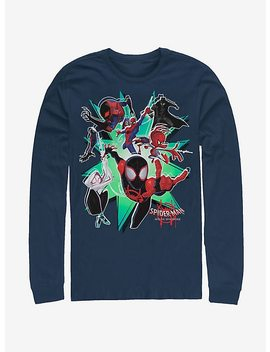 Marvel Spider Man Spider Verse Group Spiderverse Long Sleeve T Shirt by Hot Topic