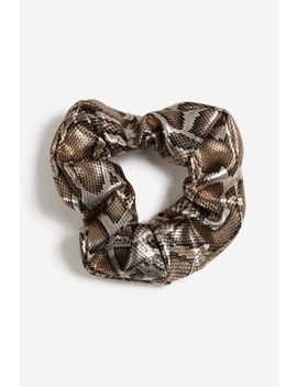 **Metallic Snake Print Scrunchie by Topshop