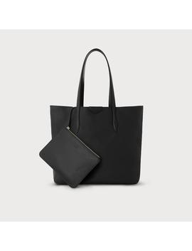 Peggy Black Italian Leather Tote Bag by L.K.Bennett