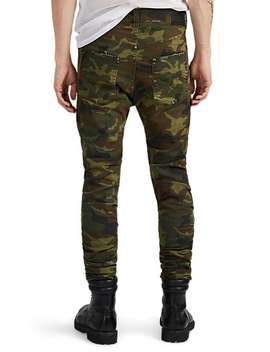 Skywalker Distressed Camouflage Skinny Jeans by R13