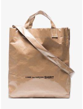 Cdg Comme Des Garcons Pvc Paper Brown Tote Bag Dsm Virgil Abloh Off White by Comme Des Garcons