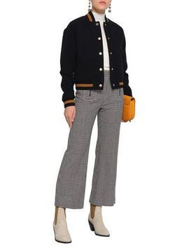 Houndstooth Wool Blend Kick Flare Pants by See By ChloÉ