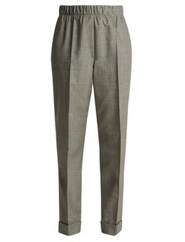 Tailored Wool And Mohair Blend Trousers by Helmut Lang