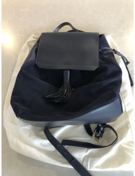 Iris & Ink Leather Suede Dark Blue Backpack Bag Nwot With Dust Bag Rrp$235 by Ebay Seller