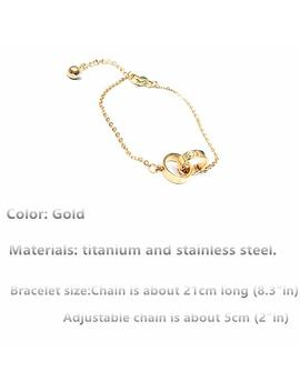 Frederic Wilkins Women's Fashion Love Bracelet, Adjustable Charm Double Ring Bracelet For Women Girls by Frederic Wilkins