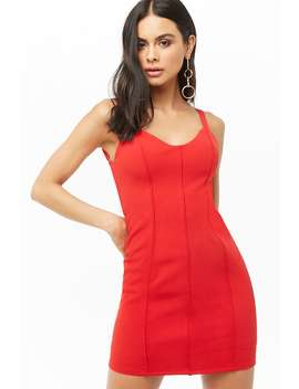 Piped Trim Bodycon Dress by Forever 21