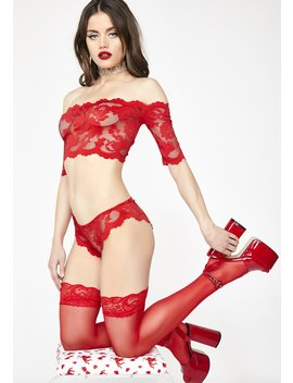 Rose N' Thorn Lace Set by Fantasy Lingerie