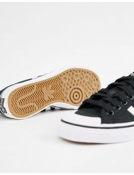 Adidas Originals Black And White Nizza Sneakers by Adidas