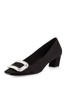 Belle Vivier Pumps W/Swarovski® Crystal Buckle by Roger Vivier