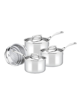 Per Sempre Stainless Steel Clad 4 Piece Cookware Set: Made In Italy by Essteele