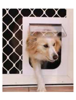 [3 Sizes/ 6 Colours] Petway Pet Cat Puppy Dog Door For Security Door And Screen by Petway