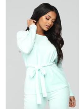 Blossom Szn Pant Set   Mint by Fashion Nova
