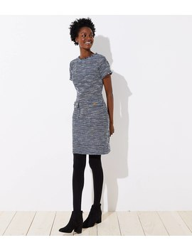 Petite Boucle Button Pocket Dress by Loft