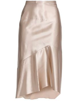Asymmetric Silk Satin Skirt by Narciso Rodriguez