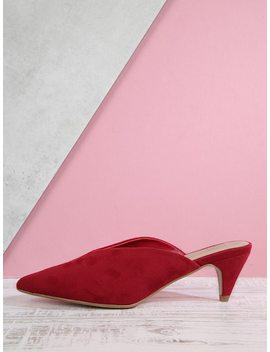 Low Cone Heel Mules by Sheinside