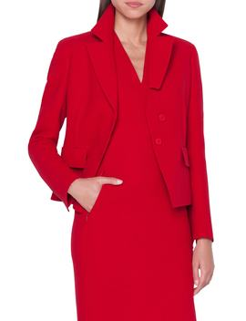 Double Face Wool Crepe Jacket by Akris