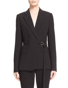 Wool Serge Belted Wrap Jacket by Michael Kors
