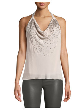 Coley Embellished Halter Top by Ramy Brook
