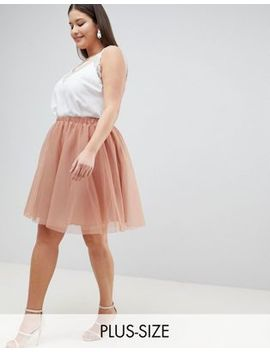 John Zack Plus Tulle Midi Skirt by John Zack Plus