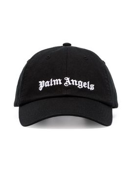 Logo Cotton Blend Baseball Cap by Palm Angels