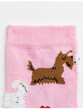 Asos Design Valentines Kissing Dog Sock by Asos Design