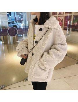 Hippona   Single Breasted Fleece Jacket by Hippona