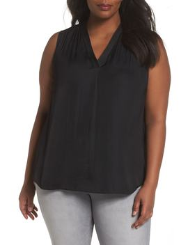 V Neck Rumple Blouse by Vince Camuto