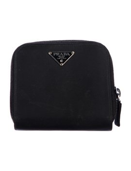 Vela Compact Zip Around Wallet by Prada