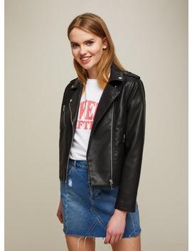 Petite Black New Millie Biker Jacket by Miss Selfridge