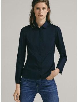 빕 디테일 스트레치 셔츠 by Massimo Dutti