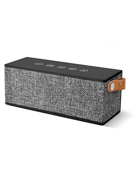 Fresh 'n Rebel Speaker Rockbox Brick Fabriq Edition, Potente Altoparlante Wireless Portatile 12 W, Extra Bass, Bluetooth, Tasti Touch, Funzione Powerbank + Vivavoce, In Tessuto, Compatibilità Smartphone/Tablet/Laptop E Mp3, Nero Antracite (Concrete) by Fresh ´N Rebel