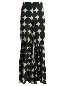 Cacao Polka Dot Print Trousers by Adriana Degreas