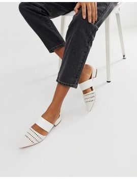 Asos Design Moscow Mules In White by Asos Design