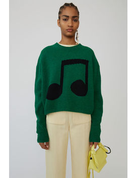 Music Note Sweater Green/Black by Acne Studios
