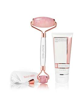 Beauty Bio Rose Quartz Roller & The Ultimate Hydrating Facial Cream by Beautybio