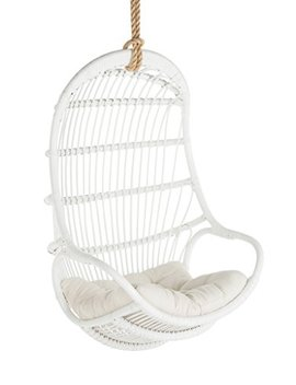 Kouboo 1110015 Rattan Hanging Chair, Large, White by Kouboo