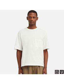 Men Uniqlo U Oversized Crew Neck Short Sleeve T by Uniqlo