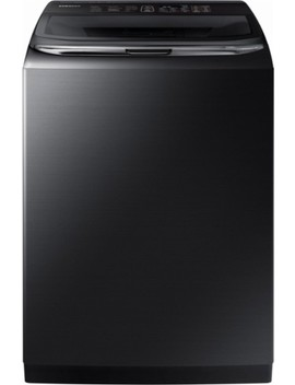 Activewash 5.4 Cu. Ft. 12 Cycle High Efficiency Top Loading Washer With Steam   Fingerprint Resistant Black Stainless Steel by Samsung