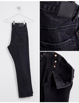 Bershka – Schmale Jeans In Verwaschenem Schwarz by Asos