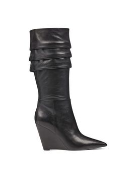 Vernese Scrunched Wedge Boots by Nine West