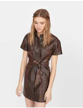 Faux Leather Dress by Stradivarius