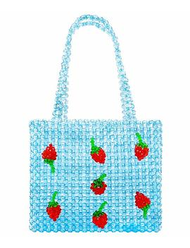 Miuco Women Handmade Handbag Beaded Weave Acrylic Strawberry Clutch Bag by Miuco