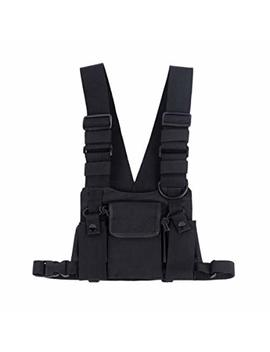 Saigain Universal Hands Free Radio Vest Chest Rig Harness Bag Holster For Two Way Radio (Rescue Essentials) by Saigain