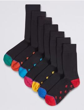 7 Pack Cotton Rich Cool & Freshfeet™ Socks by Marks & Spencer