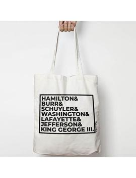 Hamilton Canvas Tote Bag by Etsy