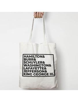 Hamilton Canvas Tote Bag by Etsy
