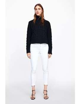 Z1975 Skinny Jeans With Asymmetric Hem  Skinny Fits Jeans Woman New Collection by Zara