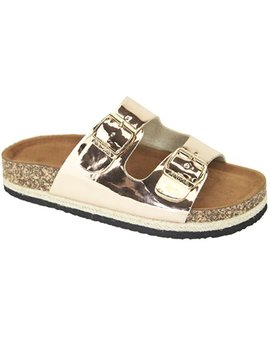 Women's Casual Buckle Straps Sandals Flip Flop Platform Footbed Sandals by Snj